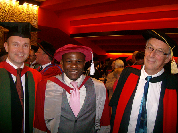 PhD accomplished. Victor is the middle person again in this picture