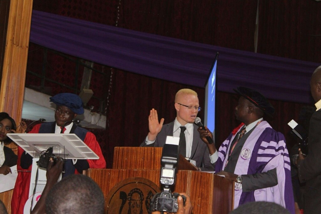 Hafeez Shaka being sworn in as a Doctor at the University of Benin Medical School Oath-taking Ceremony on 23rd September 2015.