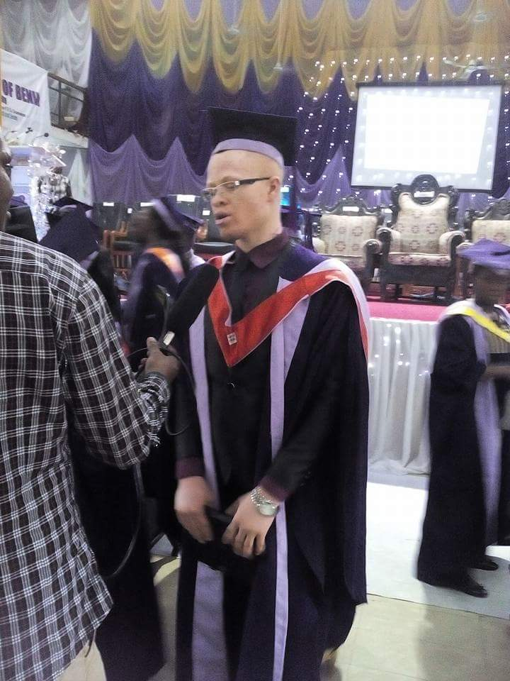 Hafeez Shaka being interviewed at the recently concluded University of Benin Convocation Ceremony on 27th November 2015 where his hard work earned him many of the Prizes given.