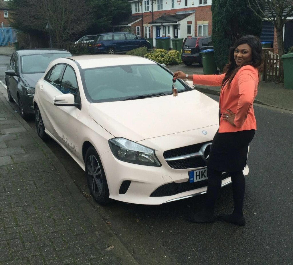 One of her Team Directors and mentee Mrs Ijay Ofoegbu who recently earned her own brand new Mercedes car from Mary Kay