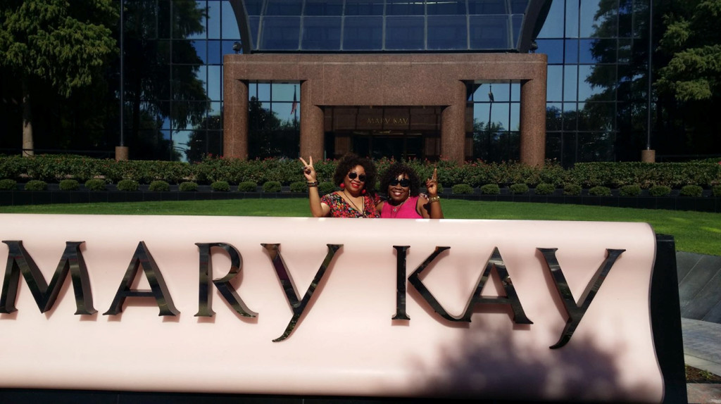 At the Mary Kay Dallas HQ
