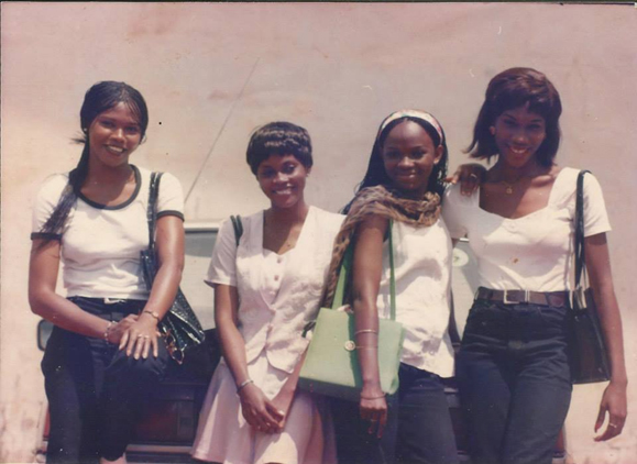 Nneka (far right) and other engineering students in University of Nigeria, Nsukka
