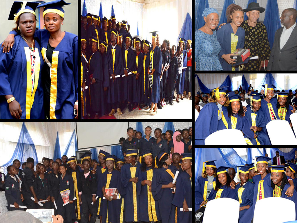 Cross section showing graduation of 170 female mechanics held on Thursday 28th July 2016 in Lagos state.